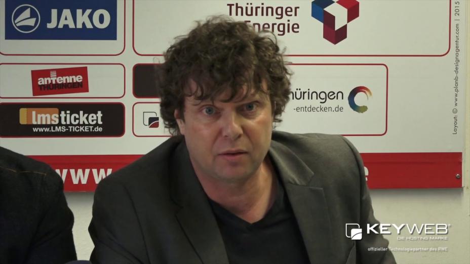 Stefan Krämer, neuer Cheftrainer des FC Rot-Weiß Erfurt vorgestellt