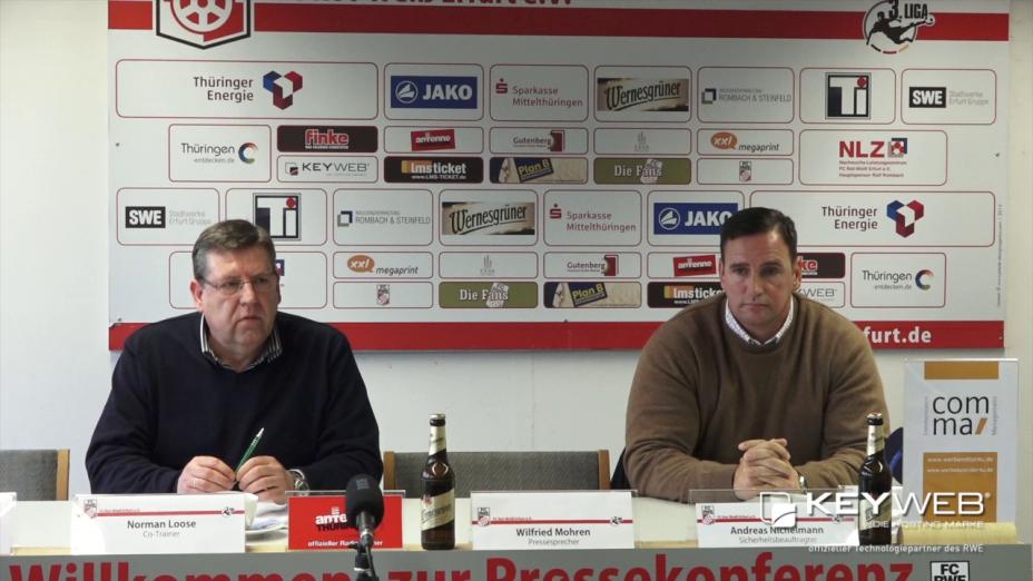 Pressekonferenz zu den Zwischenfällen im Spiel gegen den 1. FC Magdeburg vom 14.12.2015