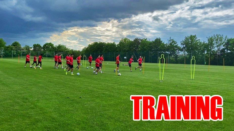 Training vor dem Pokalspiel