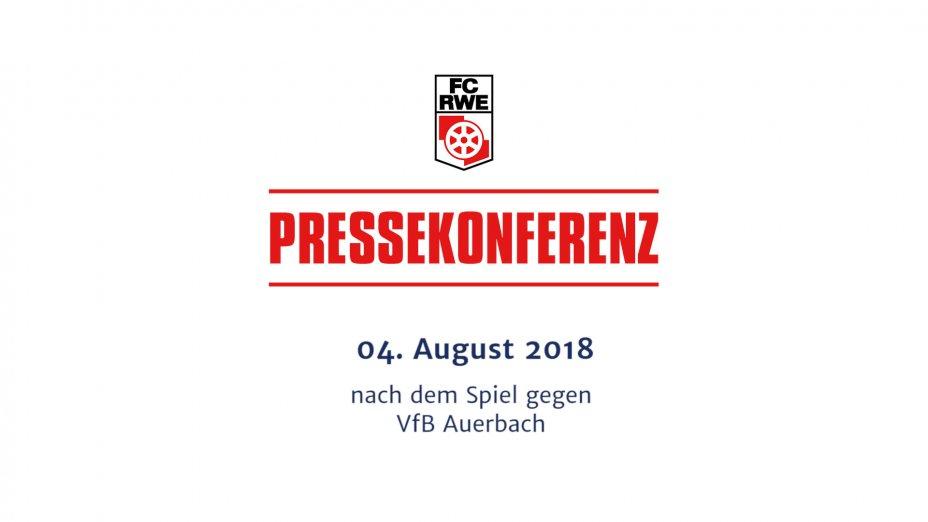 VfB Auerbach - Pressekonferenz