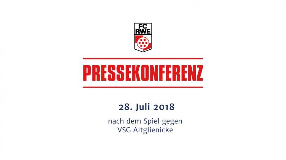 VSG Altglienicke - Pressekonferenz nach dem Spiel
