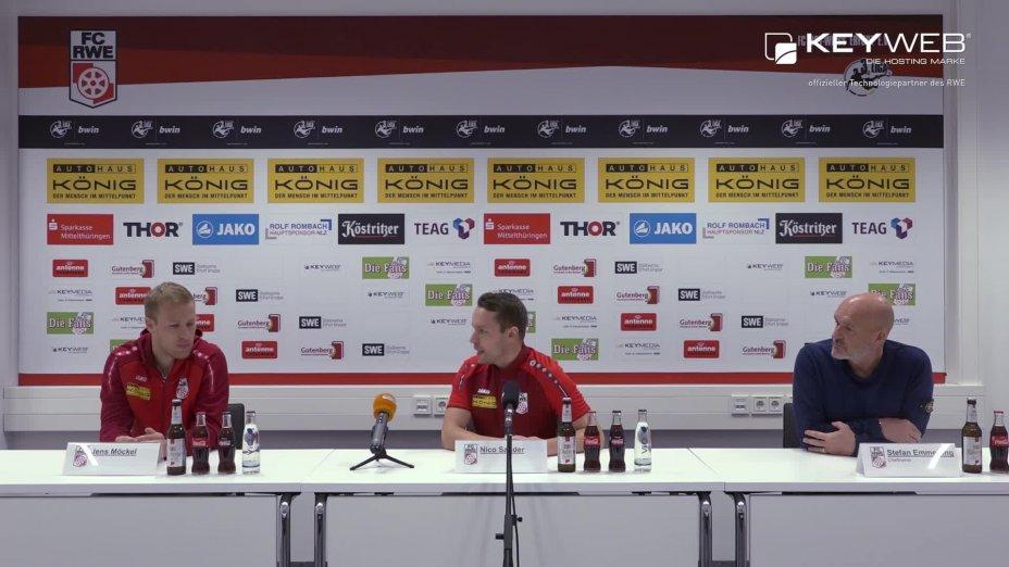 Pressekonferenz vor dem Spiel gegen Chemnitzer FC